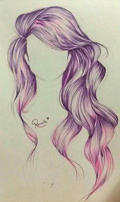 Drawing Hair Tips Ballpoint Draw . by Rowaida Ezzat Amazing Drawings, Beautiful Drawings, Cute Drawings, Drawing Sketches, Pencil Drawings, Amazing Art, Hair Drawings, Sketching, Drawing Faces