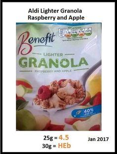 Aldi granola Aldi Slimming World, Slimming World Breakfast, Slimming World Recipes, Aldi Syns, Aldi Shopping, Apple Benefits, Healthy Snacks, Healthy Eating, Diabetic Tips