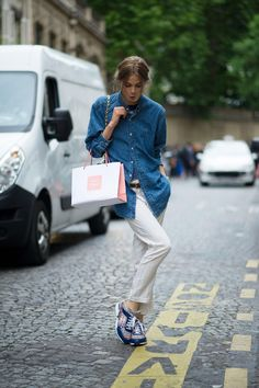 Denim shirts are a definite must have. MATCHESFASHION.COM #MATCHESFASHION