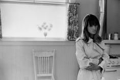Julie Christie on the set of 'Petulia', 1968.