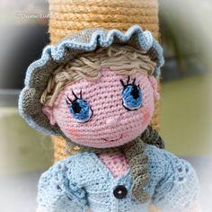 Amandine poupée aux yeux bleus : Jeux, jouets par dame-lutin