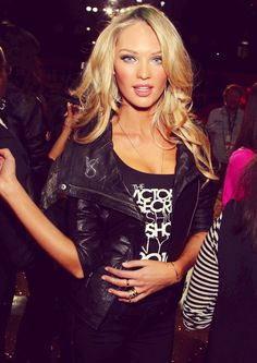 Candice Swanepoel - owning this look - like.