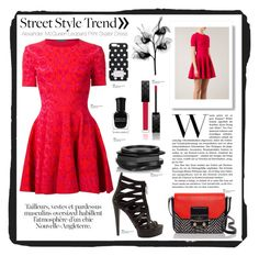 """""""Street Style Trend: Mini Dress"""" by carlavogel ❤ liked on Polyvore"""