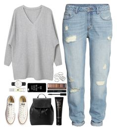 """I'm gonna wait for spring."" by whisperofregret ❤ liked on Polyvore featuring H&M, MANGO, Converse, NARS Cosmetics, Urban Decay, Apt. 9, Jo Malone and Daniel Wellington"