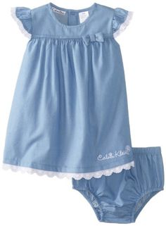 Calvin Klein Baby-Girls Infant Chambray Dress with Panty