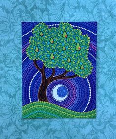 Pear Tree of Peace- Art Postcard