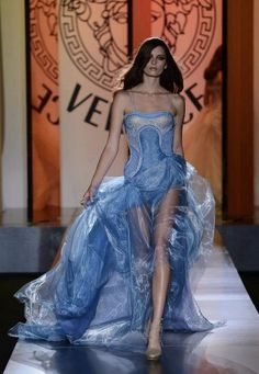 Versace haute coture   Versace Haute Couture 2013   Fashion-Pastel-Blues