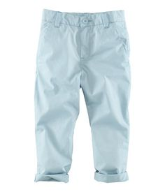 baby blue chinos. H for kids!