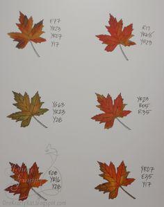 One Krafty Kat: Coloring Fall Leaves