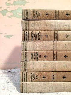 Antique Books ~Mint Green Books ~ by beachbabyblues