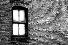 Window. Salt Lake City Utah. Black and white. High Contrast. Photo by Harvey Brand Imagery
