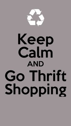 Thrift shopping... Ugh I have a hankering to go and find some vintage gems !!