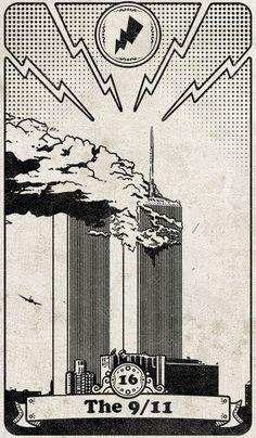 Tarot 108: 16 - The 9/11 by SKoziner on DeviantArt