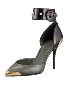 Monday, December 23rd: Alexander McQueen Bi-Color Studded Ankle Wrap Pump, 212 872 8940