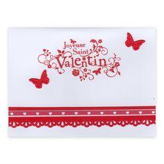 Carte Saint Valentin Quelqu'un t'aime Papillons, Collection Fannyscrap, Lovely Carte