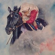#Ruffian  watercolor #horse  racing art#thoroughbred painting #commissions