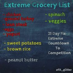 Today I am starting a round of the 21 Day Fix Extreme Countdown to Competition eating guide. No I am not planning on competing, but I am looking to switch up what I'm eating and push it a little further. The competition guide consists of low carb days and high carb days also known as carb cycling. Carb cycling allows you to still eat carbs from clean sources without adding body fat, and utilize better fat for burning as fuel as opposed to burning carbs and muscle tissue for fuel. A complete…