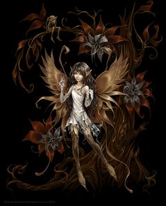 Pomegranite - By Anna Ignatieva - This is my all time favorite from my favorite fairy artist.  I had this as my MySpace background for years.    Visit the artist's website:  http://magnetica.ru/