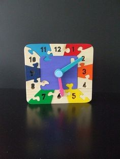 Puzzle clock - Scroll Saw Woodworking & Crafts Photo Gallery