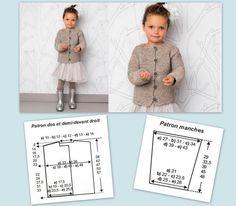 Un gilet tout simple pour fillette au point mousse Knit Crochet, Crochet Hats, Point Mousse, Christmas Baby, A 17, Needlework, Sewing Projects, Fur Coat, Couture