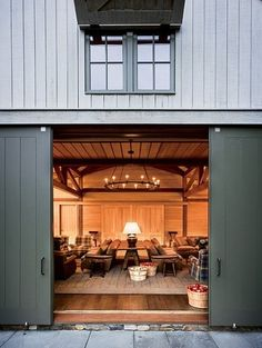 Barn doors today are becoming part of interior decoration in many houses because they are stylish. When building a barn door on your own, barn door hardware kit Architecture Design, Converted Barn, Barn Living, Living Room, Pole Barn Homes, Urban Farmhouse, Interior Exterior, Exterior Paint, Exterior Doors