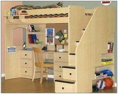 Loft Beds with Desk Design Inspiration For Kids Room: Full Loft Bed With Desk ~ Bedroom Inspiration