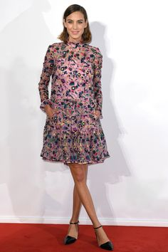 Alexa Chung in Erdem at the Elle Style Awards
