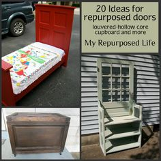 How to make a blanket chest from a repurposed door. My Repurposed Life will show you how to turn a hollow core door into a diy blanket chest.