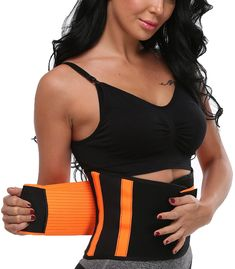 aaaeebc0dac SLIMBELLE Waist Trainer BeltWaist Cincher TrimmerSlimming Work Out Body  Shaper Belt Sport Girdle for Both Men and WomenOrangeS     Read more at the  image ...