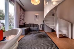 Small Living Room Spiral Staircase