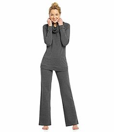 7607e88c0eaca Half Moon by Modern Movement Cowl Neck Tunic and Pants  Dillards Cowl Neck