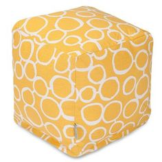 Majestic Home Goods Fusion Cube Ottoman Upholstery Color: Yellow