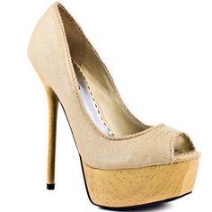 Bebe Shoes Charla - Cream Fabric