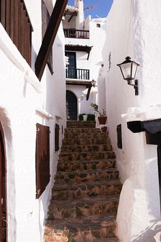 Guille Faingold Typical mediterranean village in the island of Menorca Spain