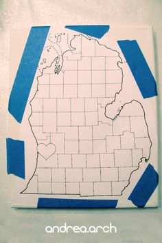Andrea Arch: DIY: Michigan string canvas