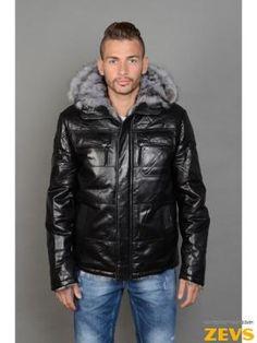 Мужские зимние кожаные куртки, кожаные пуховики мужские, кожаные куртки с  мехом. Купить кожаную 77ffc943f7a