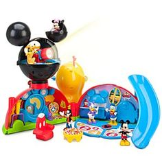 Disney Mickey Mouse Clubhouse Deluxe Play Set | Disney StoreMickey Mouse Clubhouse Deluxe Play Set - Kids can get in on the act with their favorite Disney friends when they play with this Mickey Mouse Clubhouse set. A spotlight, a slide and poseable figures are just a few of the features that will give your little fan fun for hours.