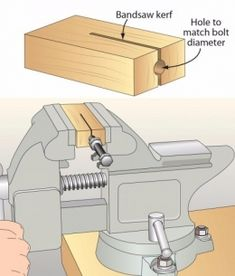 Bolt Holder - Homemade bolt holder intended to secure bolts for cutting with a hacksaw.