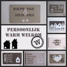 Een persoonlijk warm welkom voor bij de #voordeur. Persoonlijke, handgemaakte #naamborden.