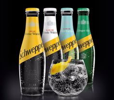 Schweppes New 2017 Water Packaging, Packaging Ideas, Coca Cola, Gin Recipes, Tonic Water, Cocktail Making, Beverages, Drinks, Ginger Ale