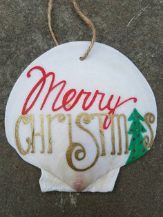 Check out this item in my Etsy shop https://www.etsy.com/listing/485276345/merry-christmas-shell-ornament-beach