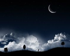 Free Moon | Night Sky Moon - Free Download Tattoo #39799 Night Sky Moon With ...