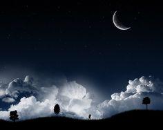 Free Moon | Night Sky Moon - Free Download Tattoo #39799 Night Sky Moon With ...