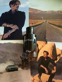 Johnny Depp DIOR!! A first look at Johnny as the new face of Dior with his debut cologne Sauvage. That's French for savage