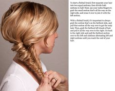 Twist Me Pretty: Fishtail Up-Do. Who'd have thought!