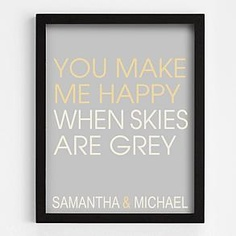"""""""You make me happy"""" wall art from RedEnvelope.com"""