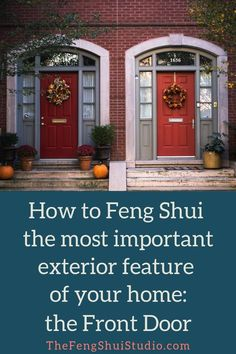 These 5 Feng Shui tips will help you attract more vital energy to the most impor. - These 5 Feng Shui tips will help you attract more vital energy to the most important entryway of yo - Feng Shui Doors, Feng Shui Entryway, Feng Shui Front Door, Feng Shui Rules, Feng Shui Bathroom, Feng Shui Principles, Feng Shui East Facing Front Door, Feng Shui Studio, Feng Shui House