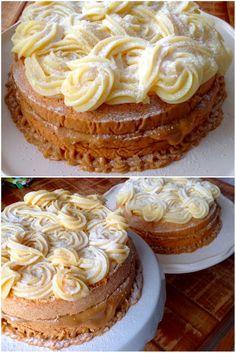 Bolo Bem-Casado, Quem resiste a dois bolos fofos, com muuuito doce de leite ... e o outro repleto de brigadeiro branco?