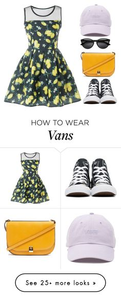 """Amusent park basics"" by elisabetta-negro on Polyvore featuring Topshop, Converse and Vans"