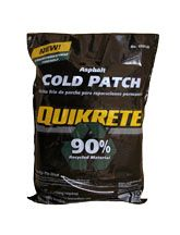 Asphalt Cold Patch | QUIKRETE® Asphalt Cold Patch (No. 1701-58) is an environmentally friendly product specially formulated with a high percentage (>90%) of graded recycled asphalt pavement and special bonding agent. It is designed to be used for repairing potholes and cracks in asphalt pavements.